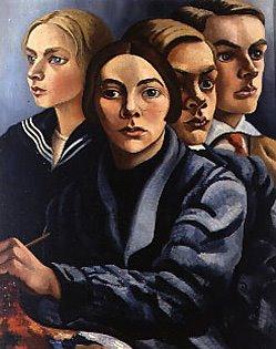 Autoportrait avec trois enfants 1929, charley toorop